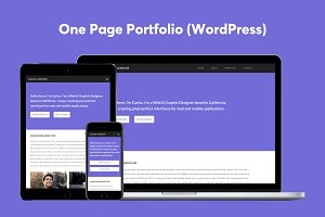 One Page Portfolio (WordPress)