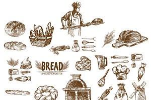 Bundle of 20 bread vectors set 15