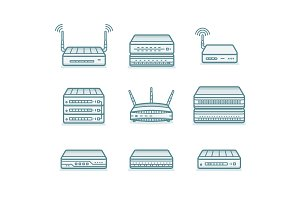 Network router icons