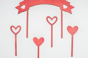 holy valentine hearts on sticks