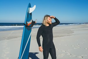 Surfer in a wetsuit