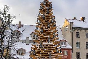 Decorative Christmas tree in Riga