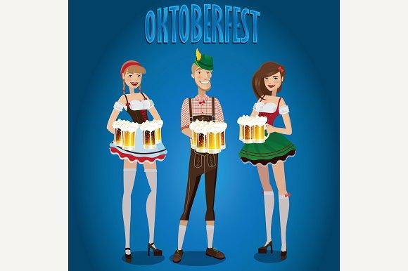 Set People At Oktoberfest