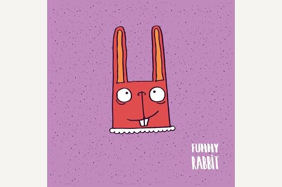 Cartoon Rabbit With Big Ears