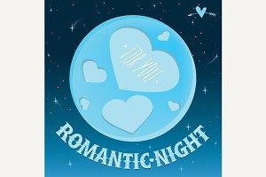 Romantic night under the moon