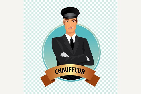 Round Icon With Chauffeur