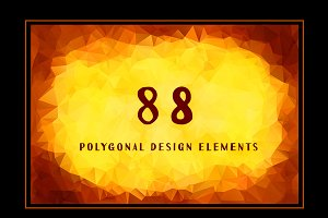 88 Abstract Polygon Backgrounds