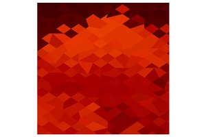Red Lava Abstract Low Polygon Backgr
