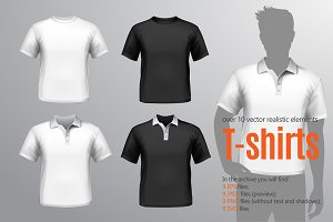 T-shirt Realistic Set