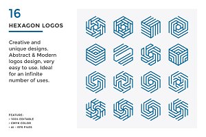 16 Hexagon Logos