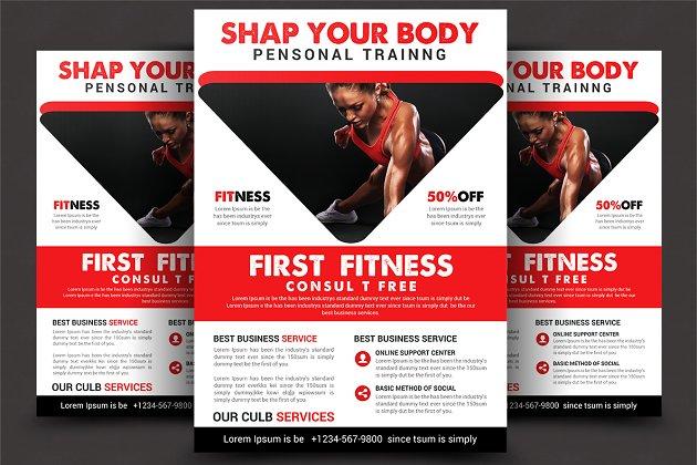 Fitness Flyer - Flyer Templates | Creative Market Pro