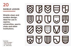 20 Shield Logos