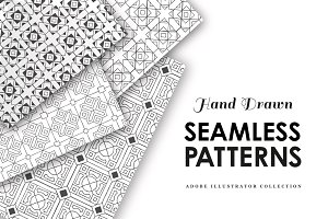 15 Hand Drawn Seamless Patterns