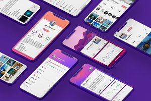 Profile Mobile UI Kit for iphoneX