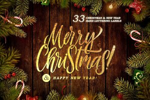 33 CHRISTMAS & NEW YEAR LETTERINGS