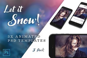 Animated Snow - Photoshop Templates