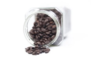 Bottle coffee beans mug