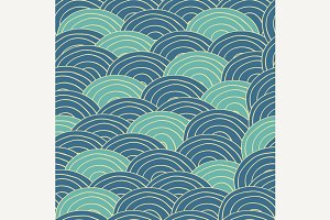 Seamless pattern blue sea waves