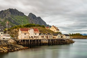 Henningsvaer, fishing village in Norway