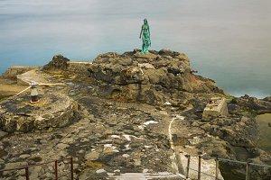 Statue of Selkie or Seal Wife in Mikladalur, Faroe Islands