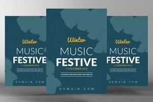 Winter Music Festival Flyer