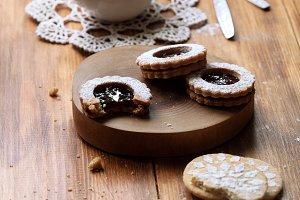 Vegan Jam Filled Sandwich Cookies