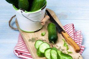 Fresh Raw Cucumbers