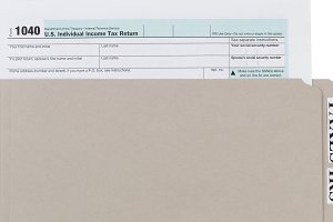 Income Tax Form in Folder