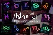 12 Brush Zodiac symbols