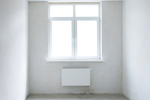 White square room with window