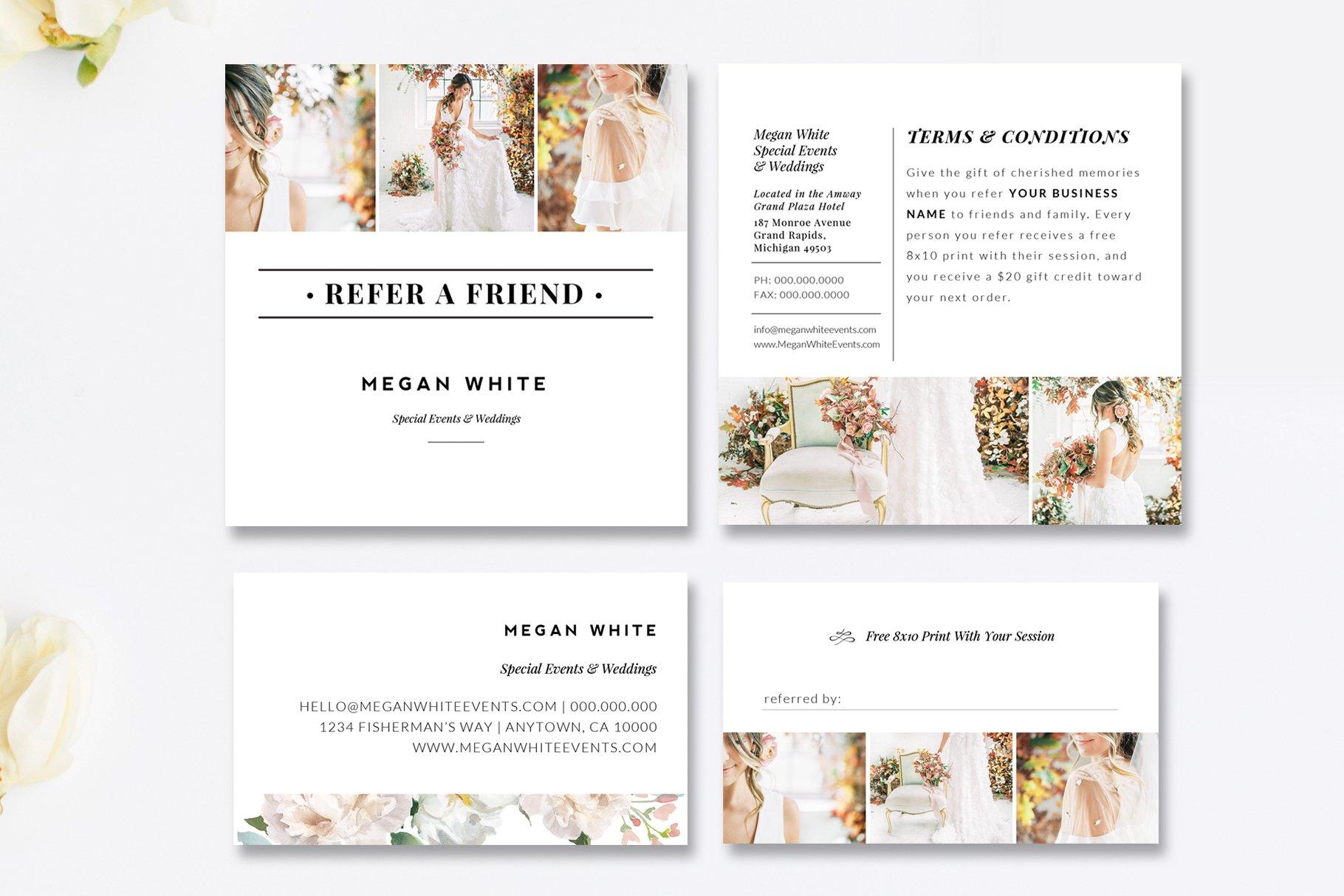 photography referral card psd card templates creative market