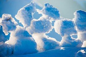 View on ice blocks