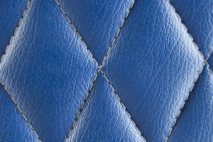 Blue leather seat background.