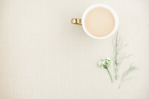 Coffee + Greens Neutral Stock Image