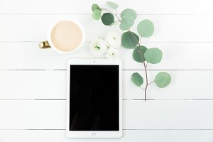 Tablet Mock Up | Coffee + Eucalyptus