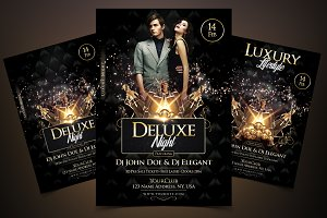 Deluxe Night - Luxury Elegant Flyer