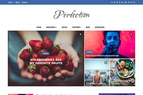 Perfection Premium Blogger Template Website Templates Creative
