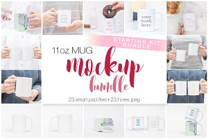 11oz Ceramic Mug Starting Kit Bundle