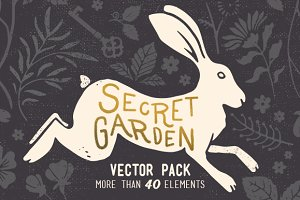 Secret Garden Vintage Vector Pack