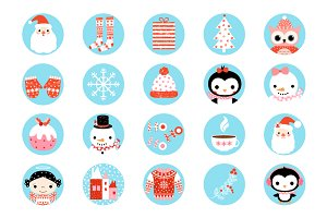 Digital Christmas collage sheet