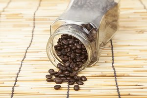 Bottle coffee beans