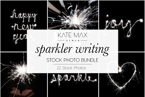 Sparkler Writing Bundle / Stock Phot