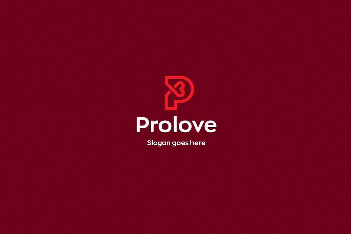 61ff8631849e2 Prolove • Letter P Logo Template
