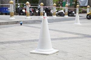White traffic cone