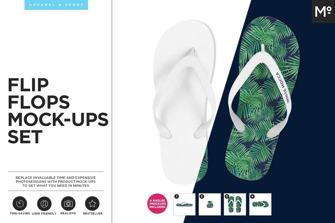 235f22757 Flip Flops Mock-ups Set ~ Product Mockups ~ Creative Market