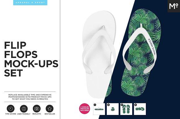 3204ce09863a2 Download Flip Flops Mock-ups Set - Premium All Free Mockup