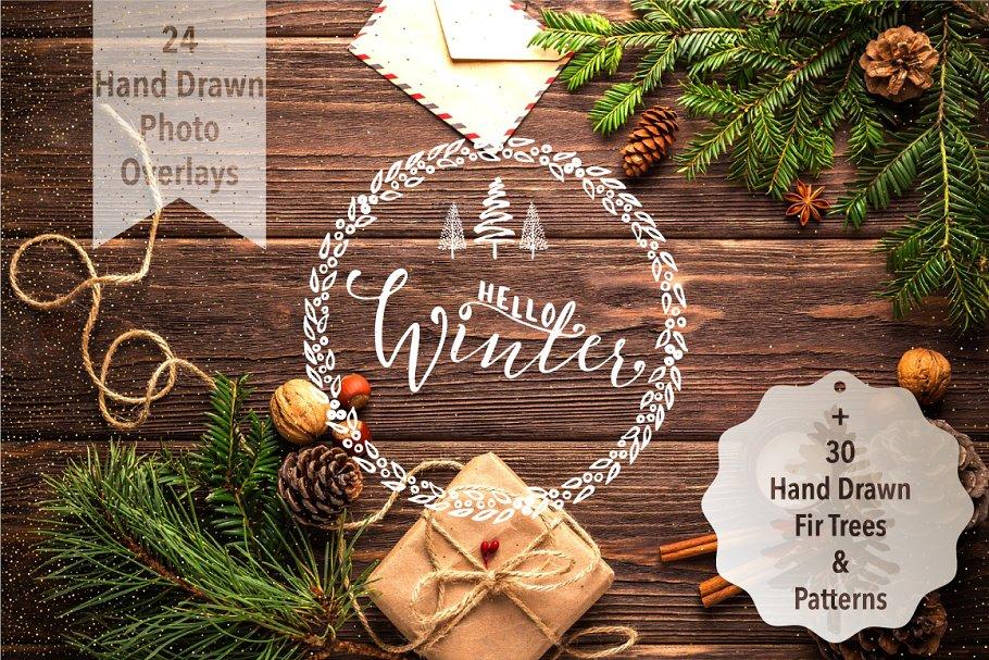Xmas&New Year Photo Overlays+Extras