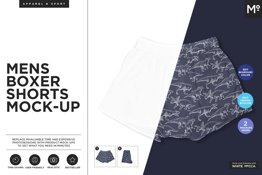 2b307e9100 Men Boxer Shorts Mock-up ~ Product Mockups ~ Creative Market
