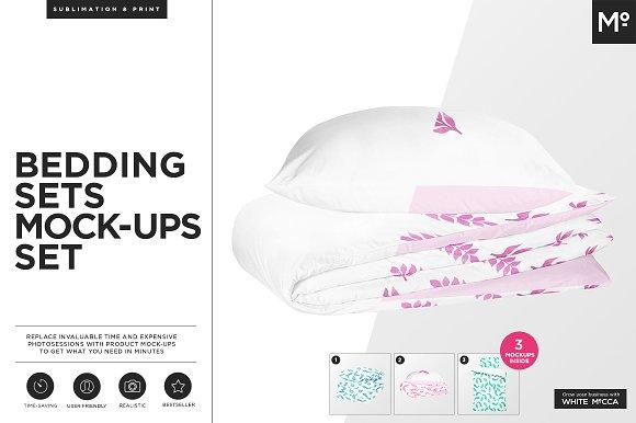 Free Bedding Sets Mock-ups