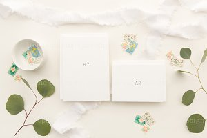 White on White Stationery Stock